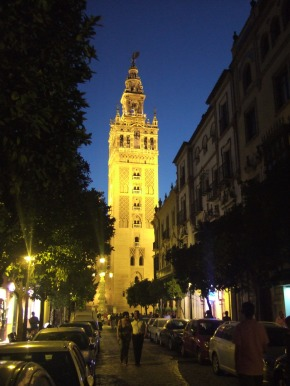 Seville - Giralda: a former minaret that was converted to a bell tower for the Cathedral of Seville in Seville