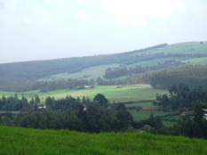 Landscape outside Addis