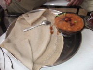 Delicious Ethiopian food