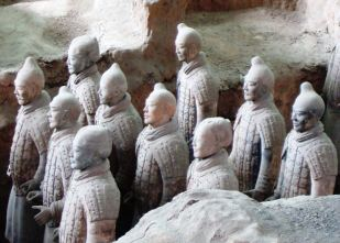 The Terracotta Army of Emperor Qinshihuang, east of Xi'an, China