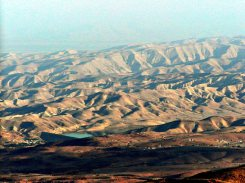 The promised land as Moses viewed it from Mount Nebo, Jordan