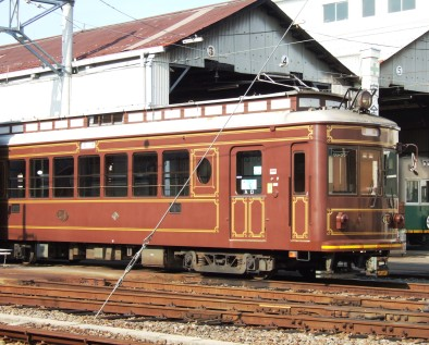 An old tramway in Osaka, Japan