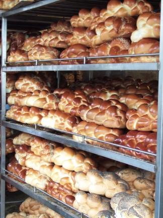 Challah bread in the Machane Yehuda market in Jerusalem, ahead of the Sabbat