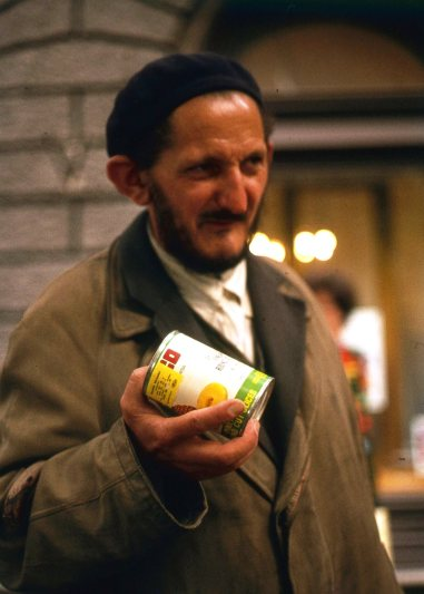 A man in Sofia, Bulgaria, 1975