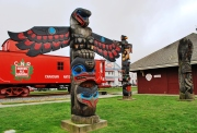 Duncan, city of totems,on Vancouver Island, Canada