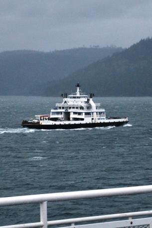 A ferry between Victoria and Vancouver, British Columbia, Canada
