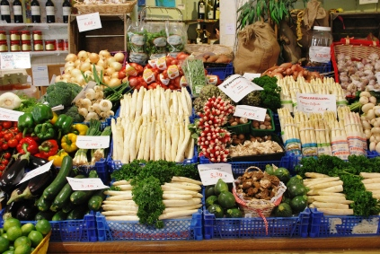 The best vegetables at the Meers produce store in Liege, Belgium