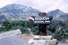 Entrance to the Sequoia National Park in California - 1976