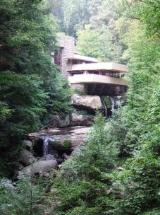 Fallingwater, a house built by architect Frank Lloyd Wright in 1935 in rural southwestern Pennsylvania.