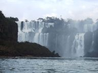 Iguassu Falls between Brazil and Argentina