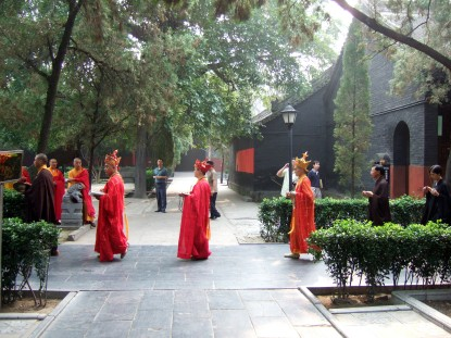 Procession at the Shaolin Monastery in Dengfeng, China
