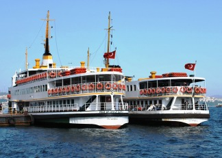 Ferries (vapur) in Istanbul, Turkey