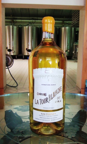 The famous Tour Blanche sauternes wine at the Château La Tour Blanche in Bommes, France