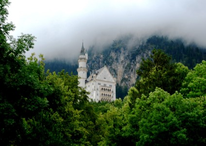 The Neuschwanstein castle in Bavaria, Germany