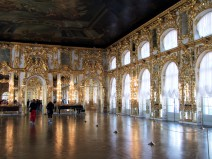Just another gold-plated room at the Catherine Palace in Tsarskoye Selo (Pushkin), Russia