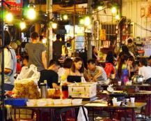 Young adults seem to love spending time at the night market